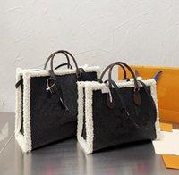 21FW Designer Borsa a tracolla Inverno Peluche Tortine intrecciata Donne Luxury Lettera Classic Lettera Modello Shopping Bags Fashion High Quality Borse Set in due pezzi