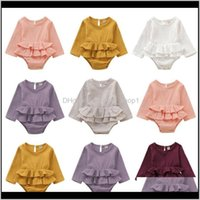 Girls Dresses Clothing Baby, Kids & Maternityautumn Casual Born Infant Baby Girl Clothes Long Sleeve Romper Dress Cotton&Linen Outfit Drop De