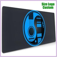 Mouse Pads & Wrist Rests Blue And Black Acoustic Electric Guitars Custom Razer Pad With Support Gel Alfombrilla Escritorio Pc Gamer Completo