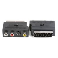 21 Pins SCART Male Plug To 3 RCA Female AV TV Audio Video Cable Adaptor Converter For Euro plug-in S Terminal Plus Left And Right Channel