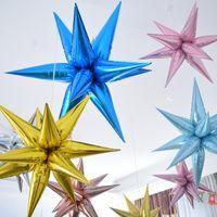 Сторона украшения 12 шт. Взрывная звезда воздушные шары на день рождения церемония открытия свадьбы капля воды