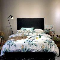 Bedding Sets 2021 Spring Long-Staple Cotton Banana Leaf Set Double Bed Size Duvet Cover+Bed Sheet+Pillowcases