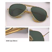 클래식 항공 남자 선글라스 브랜드 디자인 합금 프레임 파일럿 Outman UV400 태양 안경 남성 검은 갈색 gafas