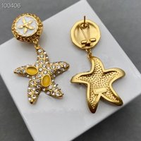2021 new Luxury earring crystal women Stud for anniversary gift hot brand jewelry top quality anti allergy 925 silver needle brass gold plated designer earrings