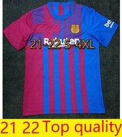 En Kaliteli XXXXL S-4XL Futbol Forması Ev Barca 21 22 Camiseta Futbol Ansu Fati 2021 2022 Messi Griezmann F.de Jong Maillots de Futbol Gömlek