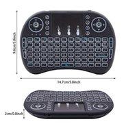 Tastiera wireless I8 mini 2.4GHz con touchpad nero