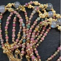 Natural tourmaline beaded bracelet free deliv ery