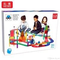 Kids DIY Magnetic Tiles Magnet toy Light Car Learning Toy Race Car Track Building Block Educational Slot Toys Set