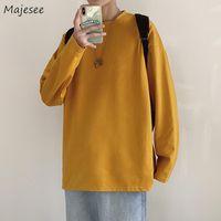 Men's Hoodies & Sweatshirts Men No Hat Solid Color Long Sleeve Spring Autumn Casual Tops Loose Fashion Simple All-match Hoodie Korean Teens