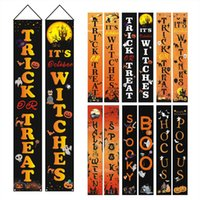 Party Banner Flags For Halloween Christmas 180*32CM 100D Polyester Banner Home Door Sign Flags Set Whole DHL Free Ship
