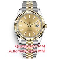 최고의 고품질 36mm 망 정밀도 및 내구성 자동 운동 스테인레스 스틸 시계 여성 방수 빛나는 손목 시계 기계식 시계