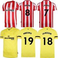 2021 2022 Брентфорд Ф.С. Футбольные трикотажки FOSU MBEUMO TONES DEASILVA FORSS CANOS HOME домой Футбольная рубашка