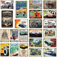Conduire de l'ancienne mode britannique métal signer métal service vintage réparation garage mur-mur affiche de garage plaque de garage décoration