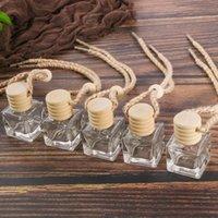 Coche Perfume Botella Coche Colgante Perfume Ambientador de Agente Para Aceites Esenciales Difusor Fragancia Vacío Botella de vidrio 10ml HHB6311