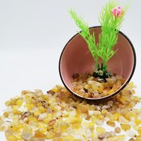 Natural Stone Gravel Quartz Golden Yellow Specimen Crystal Home Decor Color Polished For Aquarium Healing Energy Rock Mini Fish Tank Plant Decoration Supply 1000g
