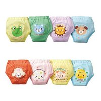 4 X Baby Toddler Girls Boys Cute 4 Layers Waterproof Potty Training Pants reusable 1-2 Years H0830