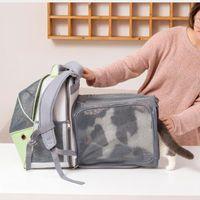 Cat Carriers، الصناديق المنازل أوكسفورد القماش المعركة اللون للخروج حقيبة الحيوانات الأليفة المحمولة عش واحد من قطعة واحدة تنفس الكلب والظهر