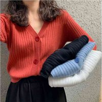 Casual Long Sleeve Autumn Novelty Clothes Knitted Cardigan For Women's Sweaters Female Jersey Woman Jumper Ladies Tops 210508