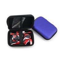 소매 가방이있는 DAB 밀짚 네일 컬렉터 키트 14mm 티타늄 Dabber 실리콘 컨테이너 도구 지퍼 케이스