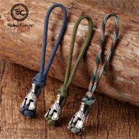 Key Rings Vikings Spartan Warrior Lanyard Chain Antique Bronze Accessories Woven Survival Paracord Rope Knife Car Keyring Handmade