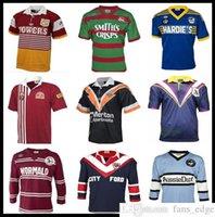 Retro Rugby Jersey Brisbane Broncos Sul Sydney Rabbolohs Wests Tigres Holden Blues Parramatta enguias Mar Aguias Maroons Malou Sharks