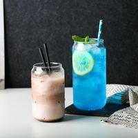 Moda simples pode moldar vidro americano latte de gelo alta temperatura copo de café criativo cola frio bebida leite canecas