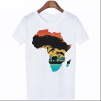 Womens T Shirts shirt Harajuku Letters African Plate Graphic Printing Casual Cartoon Top Fashionable Drop