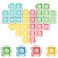 Fidget Toys Jigsaw Puzzle Decompression Reliver Stress Anti-stress Bubble Sensory Toy to Play with Friends-TOPN863