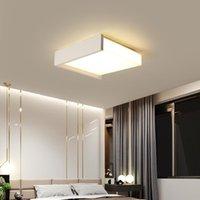 Plafonniers Noir / Blanc LED pour salon Chambre à coucher Chambre à manger Fixations d'éclairage d'intérieur Appliquer à AC90-260V