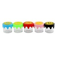 glass jar concentrate Small Empty Bottle silicone dab container waxoilrigs tobacco storage containers