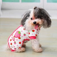 Dog Apparel Clothes Cute Small Dogs Pajamas For Pet Cat Puppy Jumpsuit Chihuahua Pomeranian Print Shirt