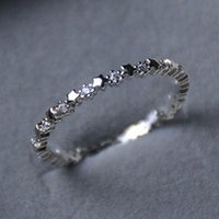 Cluster Rings Cute Super Thin Silver Plated CZ Zircon Star Wedding Engagement Party Gifts For Women Lady Girl Lover's Fine Jewelry