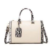 HBP Boston pillow side shoulder bags 2021 wave Korean fashion snake pattern crossbody messenger bag women handbags purses