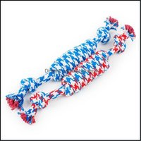 Toys Chews Supplies Home & Garden Fun Pet Chew Knot Cotton Stripe Rope Toy Durable High Quality Dog Aessories Drop Delivery 2021 Wl2Sb