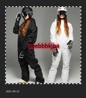 Лыжные куртки мужчины и женщины лыжный костюм водонепроницаемый ветрозащитный открытый спорт Skiiing брюки комбинезон набор мужской сноуборд комбинезон cyf2641
