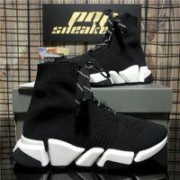En Kaliteli Çiftler Erkekler Moda Tasarımcılar Ayakkabı Bayan Hız 2.0 Çorap Sneakers Erkek Kadın Üçlü S Siyah Açık Platformu Rahat Trainer Sneaker