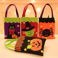 Cadılar bayramı hile ya da şeker çanta kolu ile çocuk parti hediye favor pumkin örümcek no-dokuma tote çantası xbjk2107