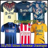 21 22 Club America Accueil Jerseys de football 2021 2122 Unam troisième Leon Naul Tigres Chivas Guadalajara Xolos Tijuana Cruz Azul Kit Camisas de Futebol Chemises de football