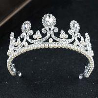 Hair Clips & Barrettes Beauty Bridal Tiaras White Pearl Crowns Bride Crown Wedding Accessories Princess Tiara Hairbands MAEA99