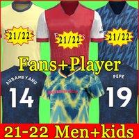 Arsen Soccer Jersey مراوح المشجعين Gunners 20 21 22 Ødegaard Pepe Saka Thomas Willian Nicolas Tierney 2021 2022 Football Shirt Men + Kids Kit الرابع HumeRace 4th