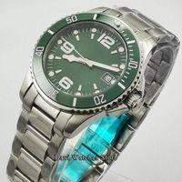 Наручные часы Bliger 40mm Top Автоматические механические мужские Часы Роскошный Сапфировый Кристалл Керамическая Безрель Светостойкий Водонепроницаемый наручные часы