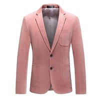 Blazer Blazer Chaqueta de alta calidad Corduroy Single Button Great Designer Hombres Suit Slim Fit 4xl 5xl 6xl K777 Trajes Blazers