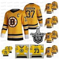 37 Patrice Bergeron C Patch Boston Bruins جيرسي 2021 Stanley Cup Playoffs Taylor Hall Bobby Orr David Pastrnak Coyle Kase Marchand Krejci Rask