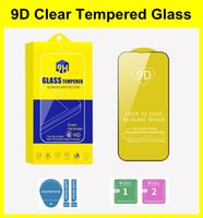 9D Screen Protector Film for iPhone 13 Mini Pro Max 11 12 XR XS 7 6 8 Plus Full Cover HD Tempered Glass With Retail Box