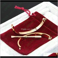 Bangle Drop entrega 2021 Titânio Aço oval Casal Jóias Horizontal Parafuso Bangles Braceletes Mulheres Homens Femme Bijoux Pulseeira Chave De Fenda J
