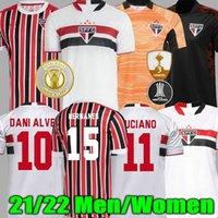 21 22 Sao Paulo Soccer Jerseys Dani Alves Pablo Igor Gomes Fußball Jersey Trainingshemden Hernanes Luan Luciano Uniformen Goleiro Camisa Treino Mann Frauen 2021 2022