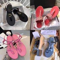 Sandálias de Luxo Clássico Flip-Flop, Bottom Bottom Resistente e Confortável, Viagem de Verão, Chinelos de Moda Casual