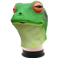 Party Masks Frog Mask Cosplay Halloween Bar Funny Masquerade Props Animal Headgear Realistic Rubber Pepe Latex