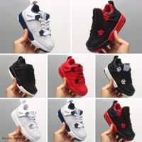 Diseñador 4 niños zapatos de baloncesto niños niños pequeños deportes rojo chicago chicos 4s cesta bola vierte enfants deporte atlético