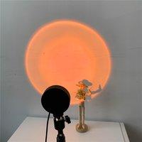 Dauerhafte Beleuchtung LED Gadget Mini Atmosphäre Nachtlicht Regenbogen Sonnenuntergang Projektor Lampe Hintergrund Wanddekoration USB Button Fee